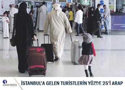 İstanbul'a Gelen Her 4 Turistten 1'i Arap