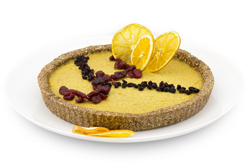 Raw Vegan Portakallı Cheesecake (Glutensiz)
